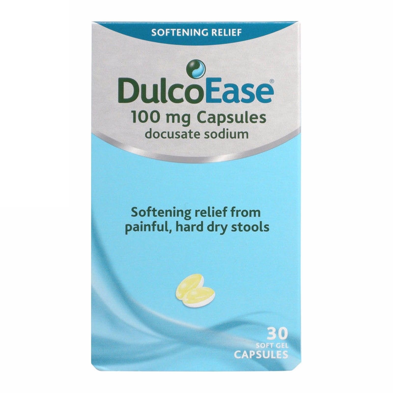 Dulcoease Stool Softener 30 Soft Gel Capsules For